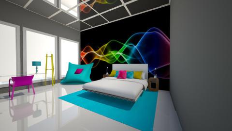 Neon Night - Modern - Bedroom  - by jnd444