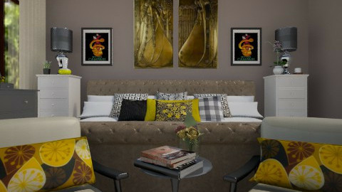 lemon pie double room - Modern - Bedroom  - by vesperart