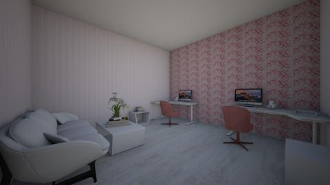 pale pink office - Feminine - Office  - by AJLoveDesigns