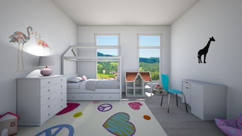 Bed with a roof - Classic - Kids room  - by Twerka