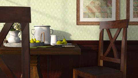 Fruit with cream - Kitchen  - by GraceKathryn