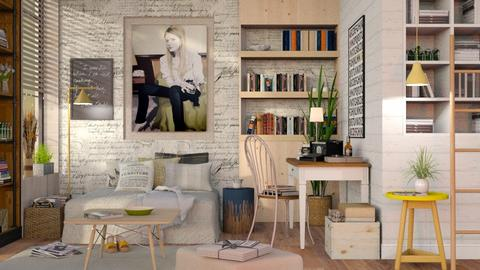 Lady Writer - Eclectic - Living room  - by Sally Simpson