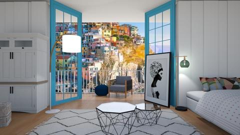 greek bedroom - Bedroom  - by belly bel bel