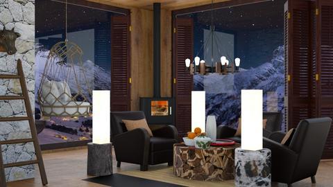 Alps Night landscape  - Living room  - by rechnaya