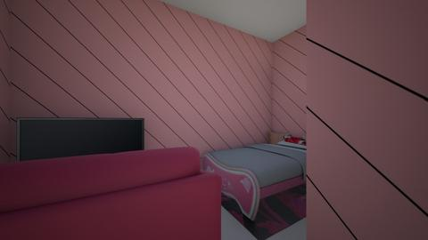 Girly Kid Bedroom - Feminine - by valentena