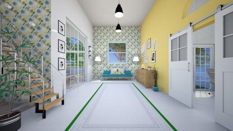 Modern Playful Hallway - by jennasnavely98