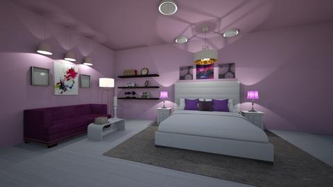 PurpleScale - Modern - Bedroom  - by Angelic_Cuteness136
