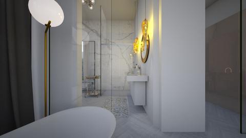 Glamour_golden bathroom - Bathroom  - by lovasemoke