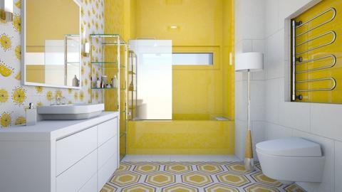 Yellow Bathroom - Bathroom  - by LaJuno98