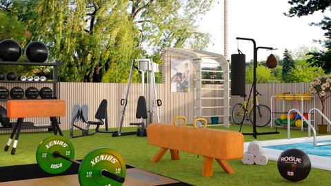 Outdoor fitness design - Eclectic - Garden  - by Sally Simpson