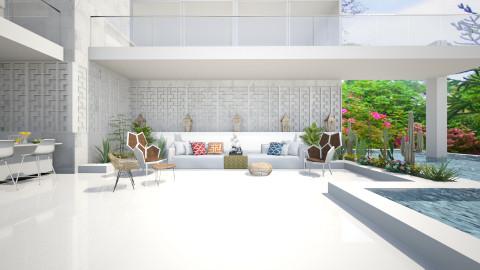 Villa Patio - Modern - Garden  - by AlSudairy S