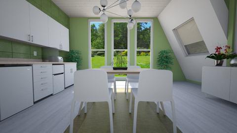 Scandinavian Dining - Dining room  - by nkanyezi