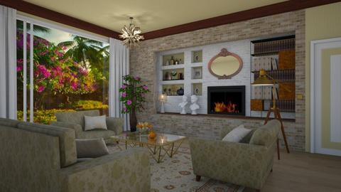 Samantha y Darrin Stephen - Retro - Living room - by Elenny