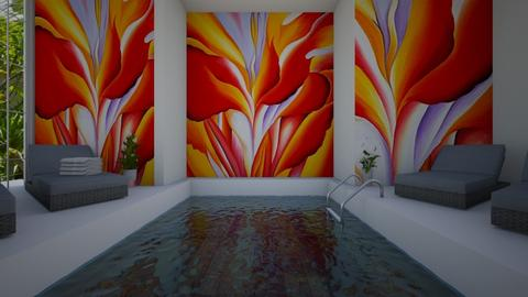 A dip in the pool - by KierraClumdesign
