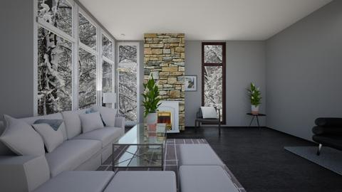 Grey Modern Living Room - Modern - Living room - by whatbuttwo