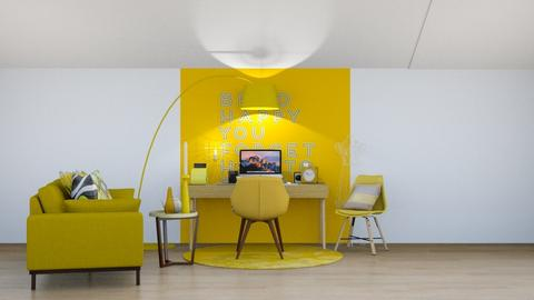 Yellow Room - Office  - by Drachenmaedchen