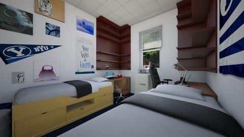 Yet Another Dorm Room 2 - Bedroom  - by SammyJPili