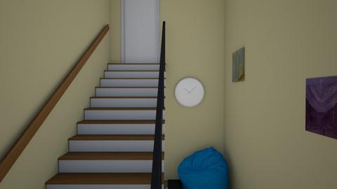 StaircaseUpFromBasement - by KatieOfTheCats