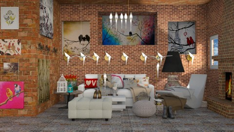 Love Birds - Modern - Living room  - by InteriorDesigner111