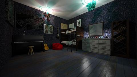 Twin Music room  - by Ellie Torres