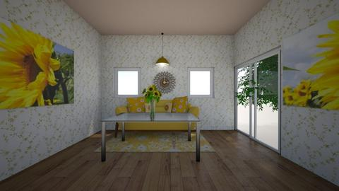 Sunflower Crazy - Vintage - Living room - by valentena