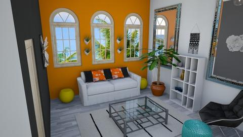 Studio Apartment Design 3 - Eclectic - Living room  - by SuitePoshDesigns