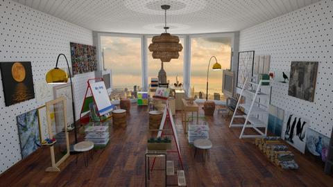 Artist room - Rustic - by milliediamond