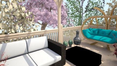 7ft wide Gardn yard20 - Modern - Garden  - by Suzanne Hoskins