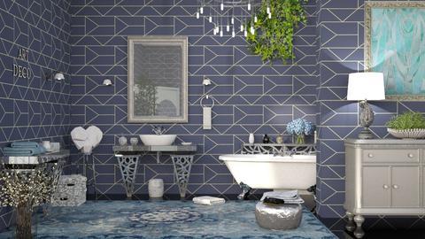 M_ Silver heart - Bathroom  - by milyca8