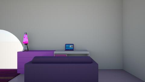 Purple living room - Living room  - by emmanewton224