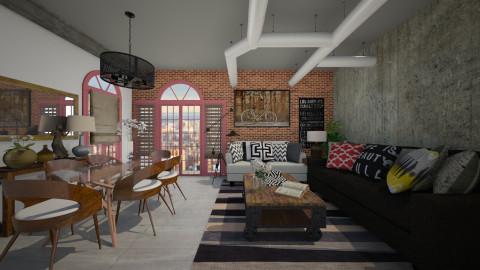 loft modern - Living room - by Joseph Espinoza