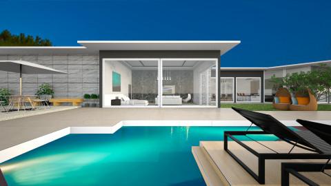 BanyuBiru House - Modern - by ayudewi