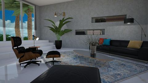 Dr No style - Living room  - by Tuija