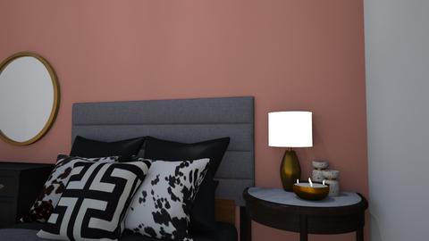 Pink and modern room - Classic - Bedroom  - by chocolatelover08