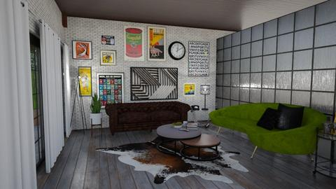 h - Retro - Living room  - by whywhywhy