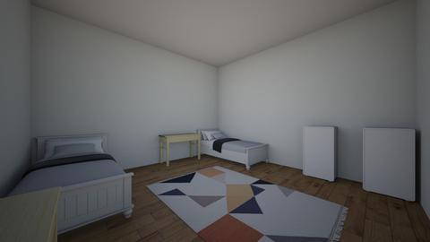 Dorm Room - Bedroom  - by EsraSavran25