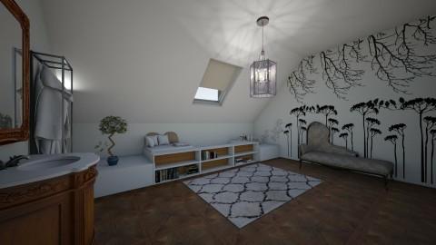 attic - Modern - Bathroom  - by kalanip
