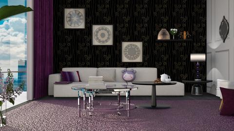 Grape Themed Living Room - Living room  - by cassidoki