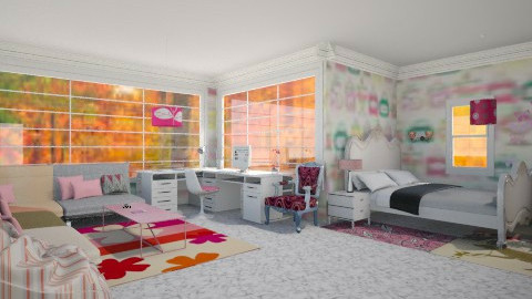girl room - Glamour - Bedroom  - by Karine Hakobayan