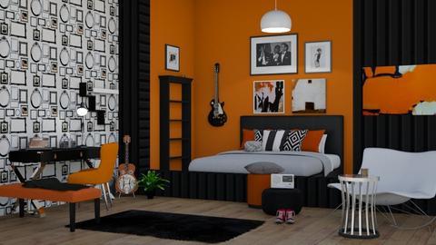 rock and roll bedroom - Classic - Bedroom - by jammuek
