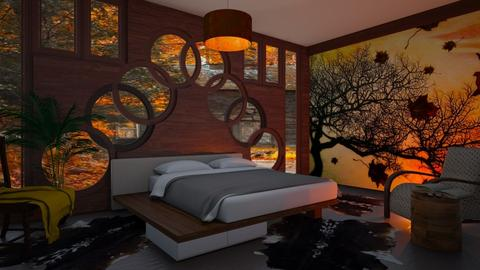 autumm pattern bedroom - by ilcsi1860