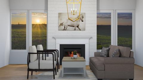 Modern Farmhouse  - Living room  - by alourveiia