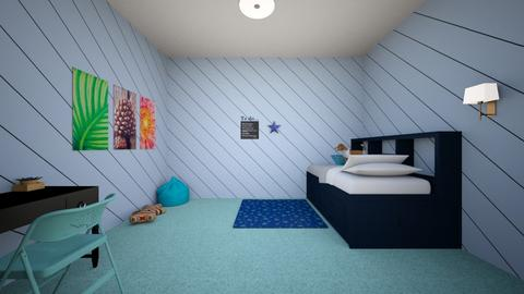 Modern Blues - Bedroom  - by Just_Bored