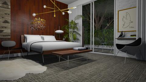 Mid Century Bedroom - Vintage - Bedroom  - by HenkRetro1960