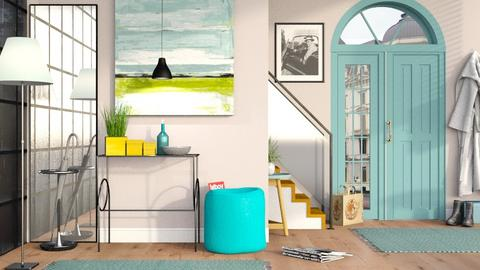Turquoise metal Hallway - Modern - Living room  - by Sally Simpson