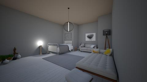 White BR - Bedroom  - by Xxblue_romanxX
