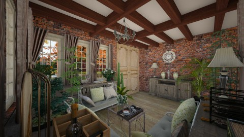 Garden house - Rustic - Living room  - by michalbank11