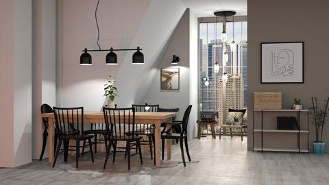 Japandi Modern - Modern - Dining room  - by evabarrett