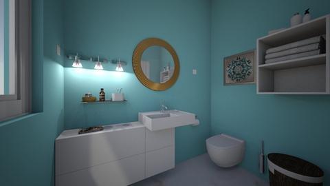 Blue Bathroom - Bathroom  - by morgandean13