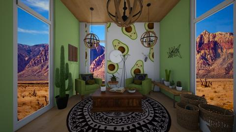 Avocado Vibes - Retro - Living room  - by Yui Soo